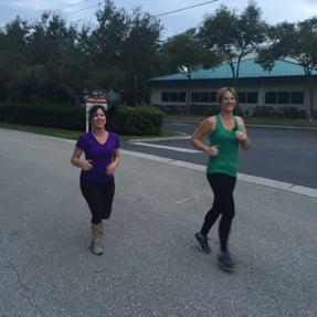 SpecialEyes Team memebers Karen and Michelle training for 5k run